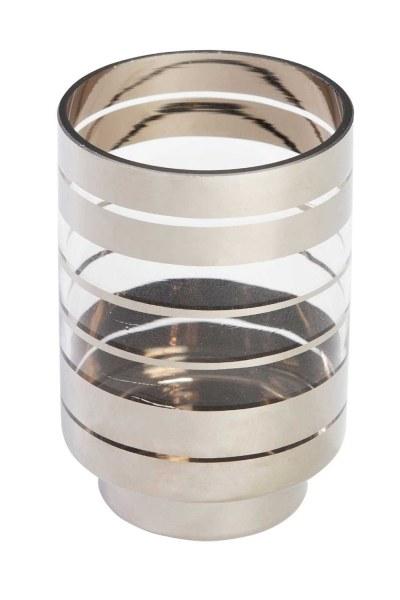 MIZALLE Gümüş Şeritli Mumluk (Küçük)