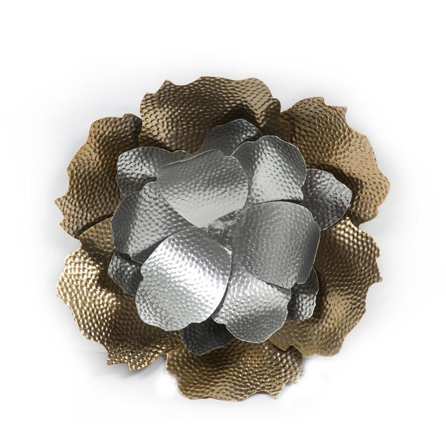 Mizalle - Gümüş Renkli Çiçek Dekor