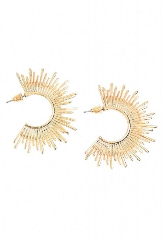 Solar Detailed Earrings (St)