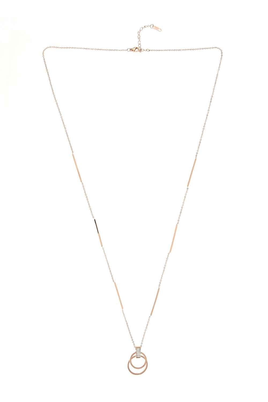 MIZALLE Ring Steel Necklace (St) (1)