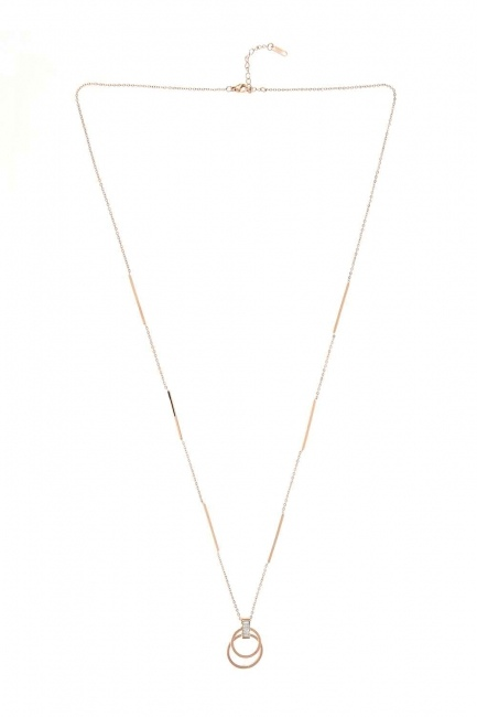 MIZALLE - Ring Steel Necklace (St) (1)