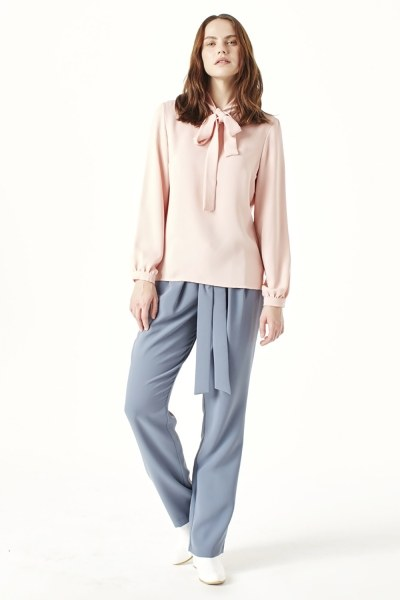 MIZALLE Halter-Neck Blouse (Powder)