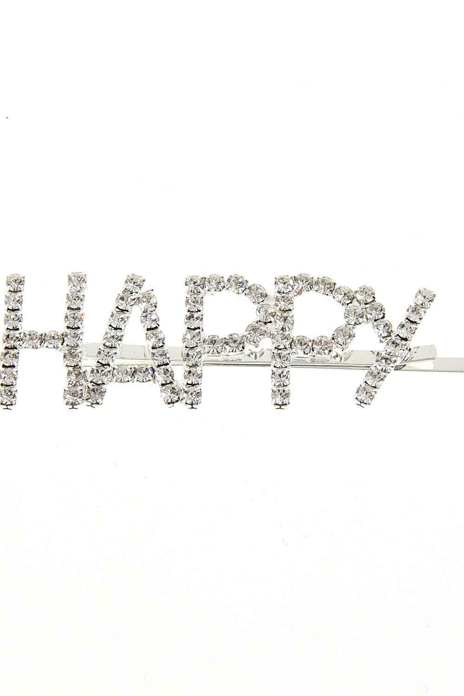 MIZALLE مشبك مع الحجر'السعيدة' (1)