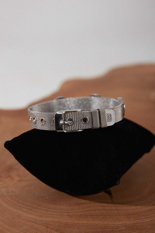 Hasır Çelik Bileklik (Gümüş Rengi)