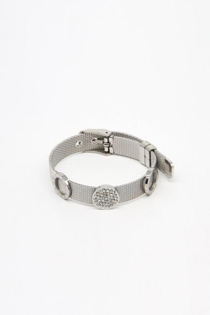 Mizalle - Hasır Çelik Bileklik (Gümüş Rengi)