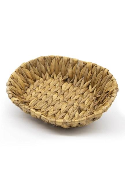 MIZALLE HOME - Oval Wicker Bread Basket (Mink) (1)