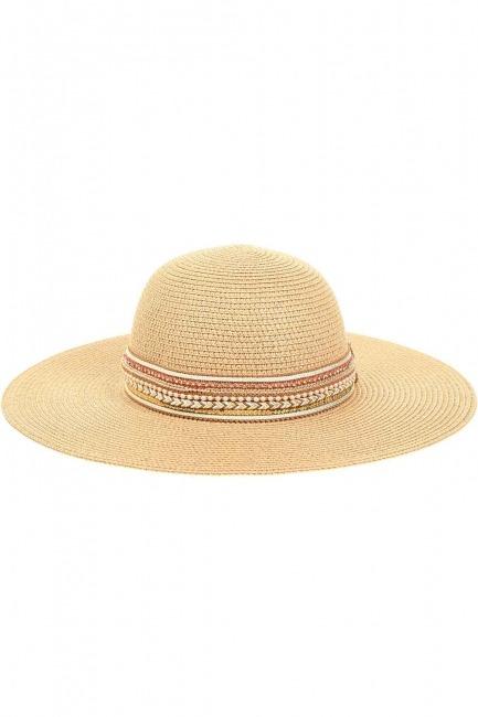 MIZALLE - Hasır Plaj Şapkası (Bantlı) (1)