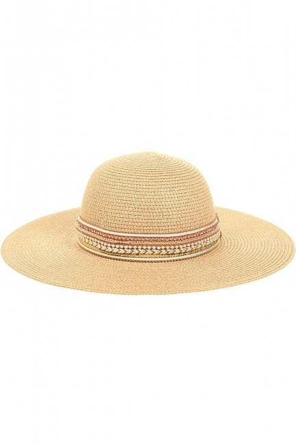 MIZALLE - Straw Beach Hat (Banded) (1)