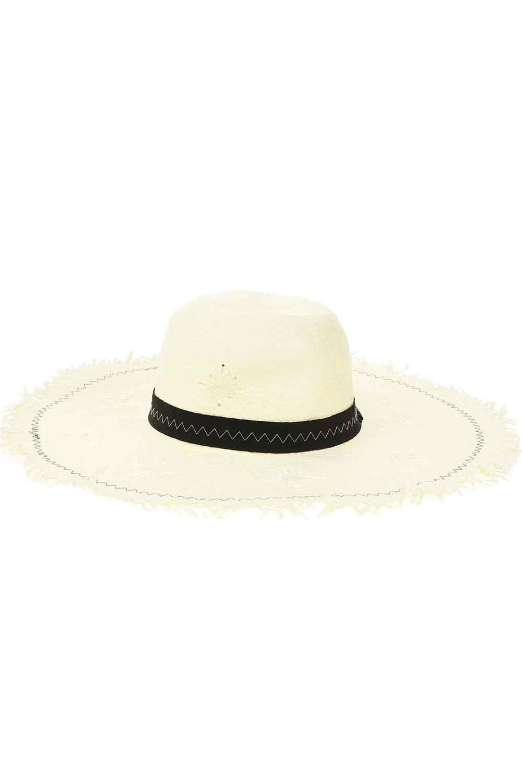 MIZALLE Hasır Plaj Şapkası (Ekru) (1)