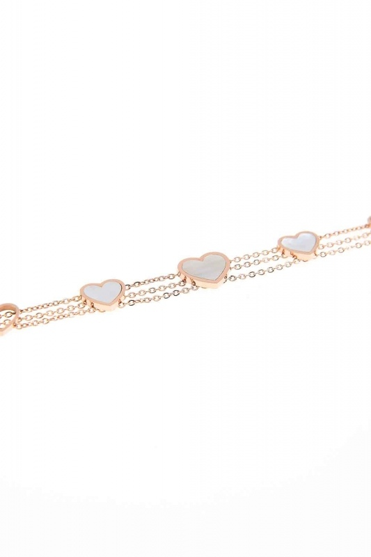 Heart Steel Bracelet (White)