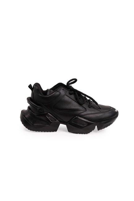 MIZALLE - أحذية عالية النعال الرياضية (أسود) (1)