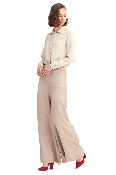 MIZALLE Hıgh-Waisted Trousers (Powder)
