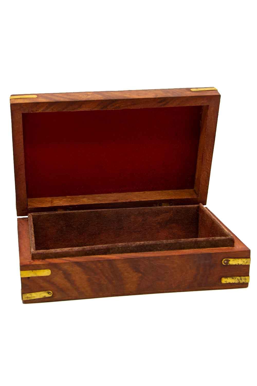 MIZALLE صندوق المجوهرات الهندي المطرزة (ستيل) (1)