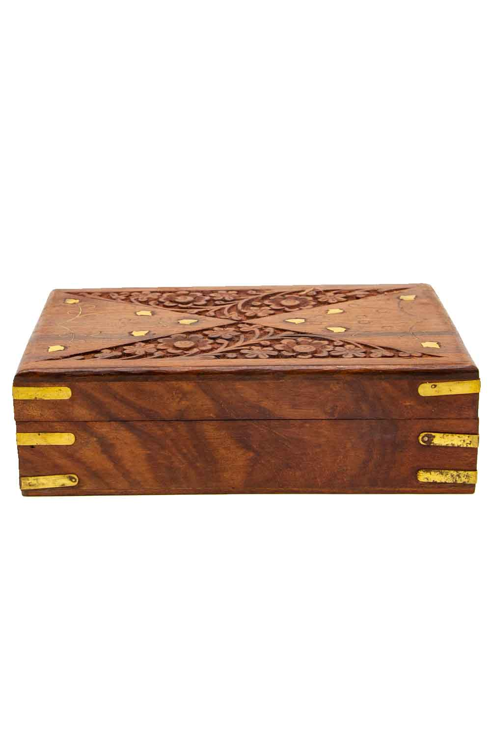Indian Engraved Jewelry Box I Mizalle