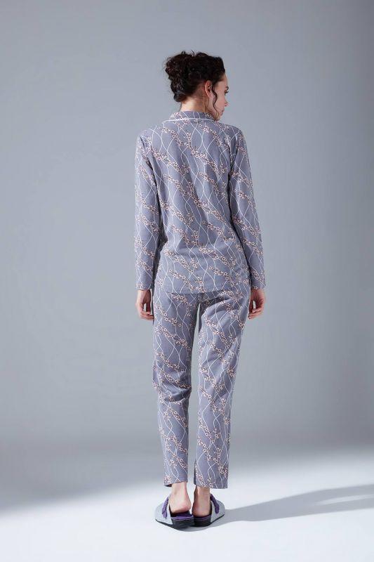 İçi Şardonlu Penye Pijama Takımı (Çiçekli)