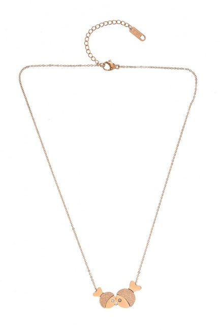 MIZALLE - Fish Steel Necklace (St) (1)