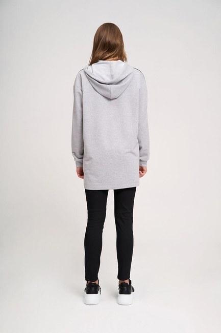 İki Çizgili Baskılı Sweatshirt (G.Melanj) - Thumbnail