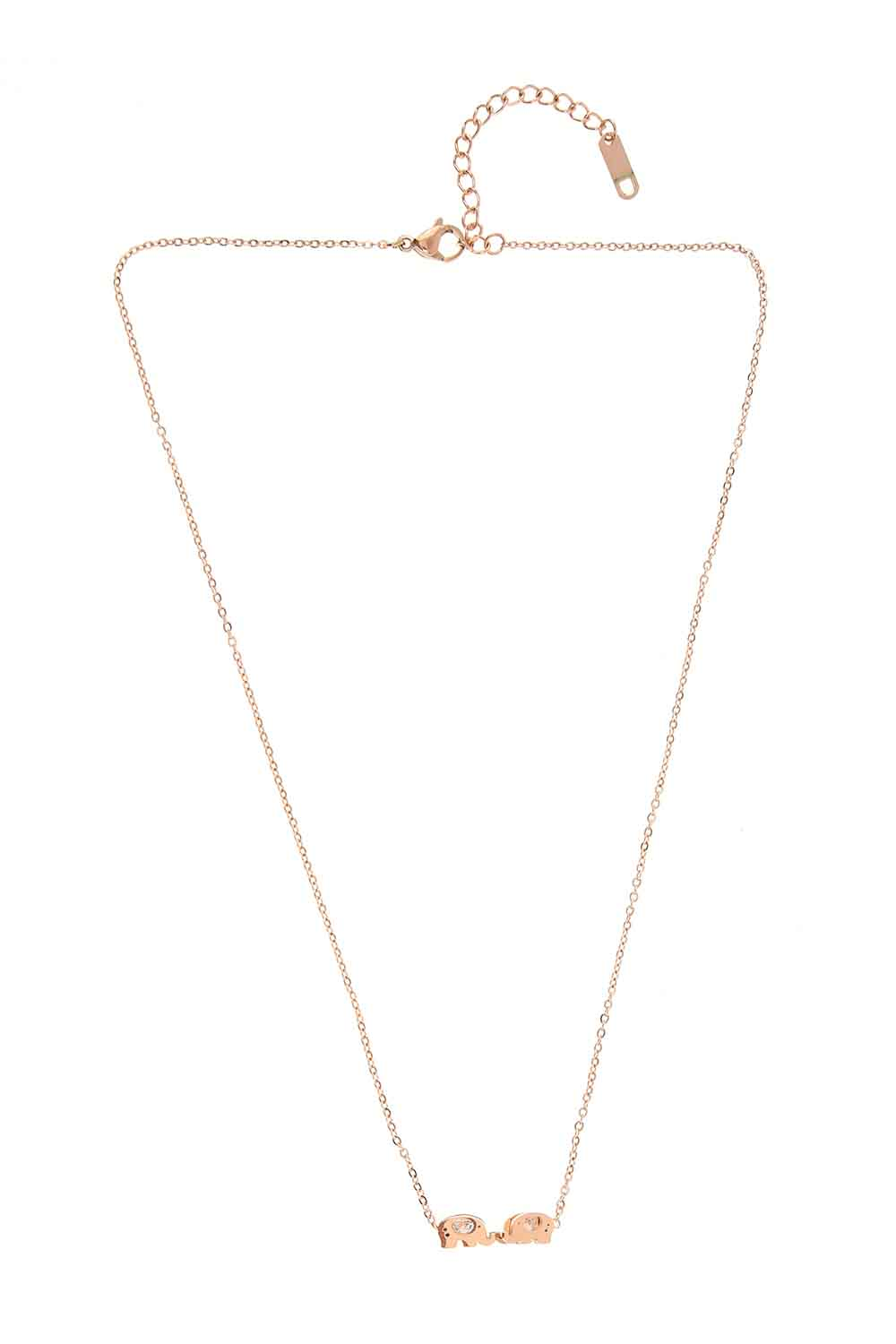 MIZALLE Elephant Detailed Steel Necklace (St) (1)