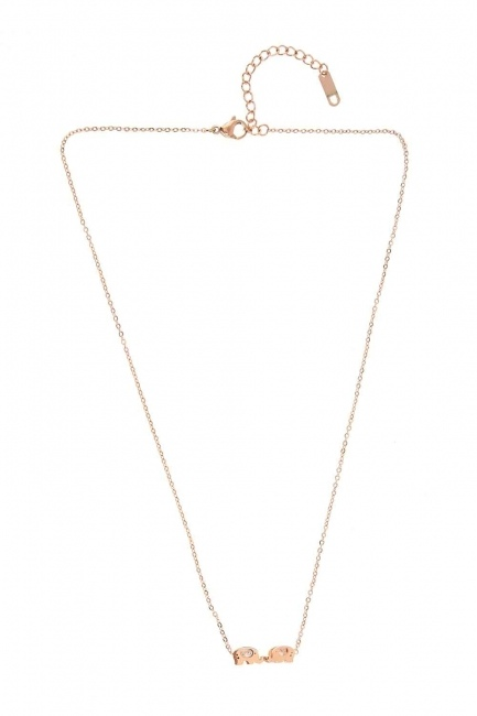 MIZALLE - Elephant Detailed Steel Necklace (St) (1)
