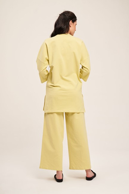 İki İplik Cepli Pijama Takımı (F. Yeşil) - Thumbnail