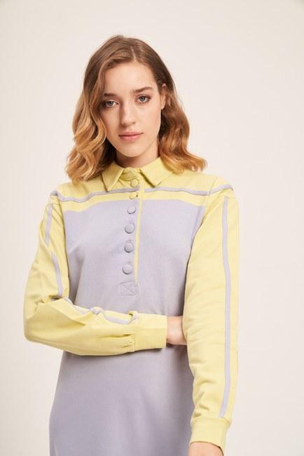 Mizalle - İki İplik Polo Elbise (F. Yeşili) (1)