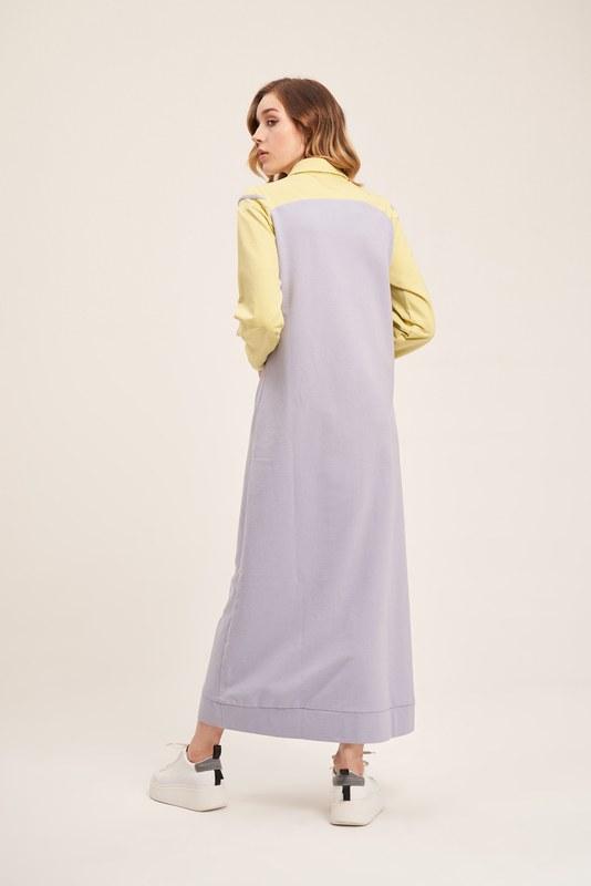 İki İplik Polo Yaka Elbise (F. Yeşili)