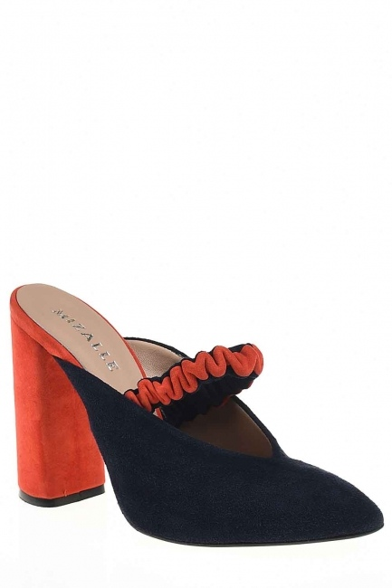 Two Colored Leather Shoes - Thumbnail