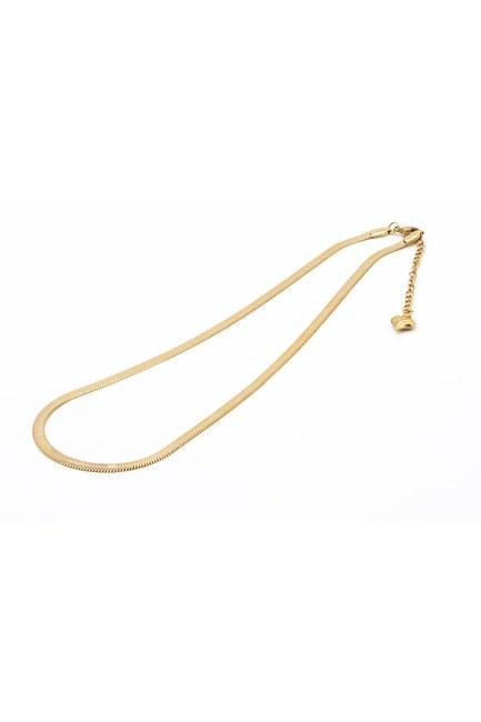 MIZALLE - Mesh Thin Steel Necklace (Yellow) (1)