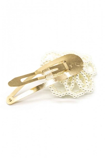 MIZALLE - Flower Detailed Pearl Hair Clips (1)