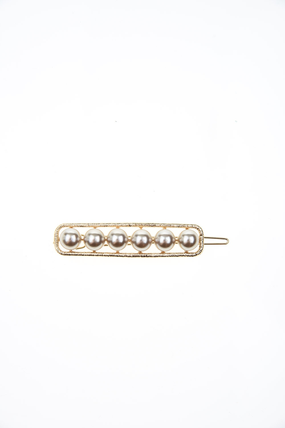 MIZALLE Pearl Detailed Hair Clips (Ecru) (1)