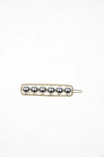 Pearl Detailed Hair Clips (Ecru) - Thumbnail