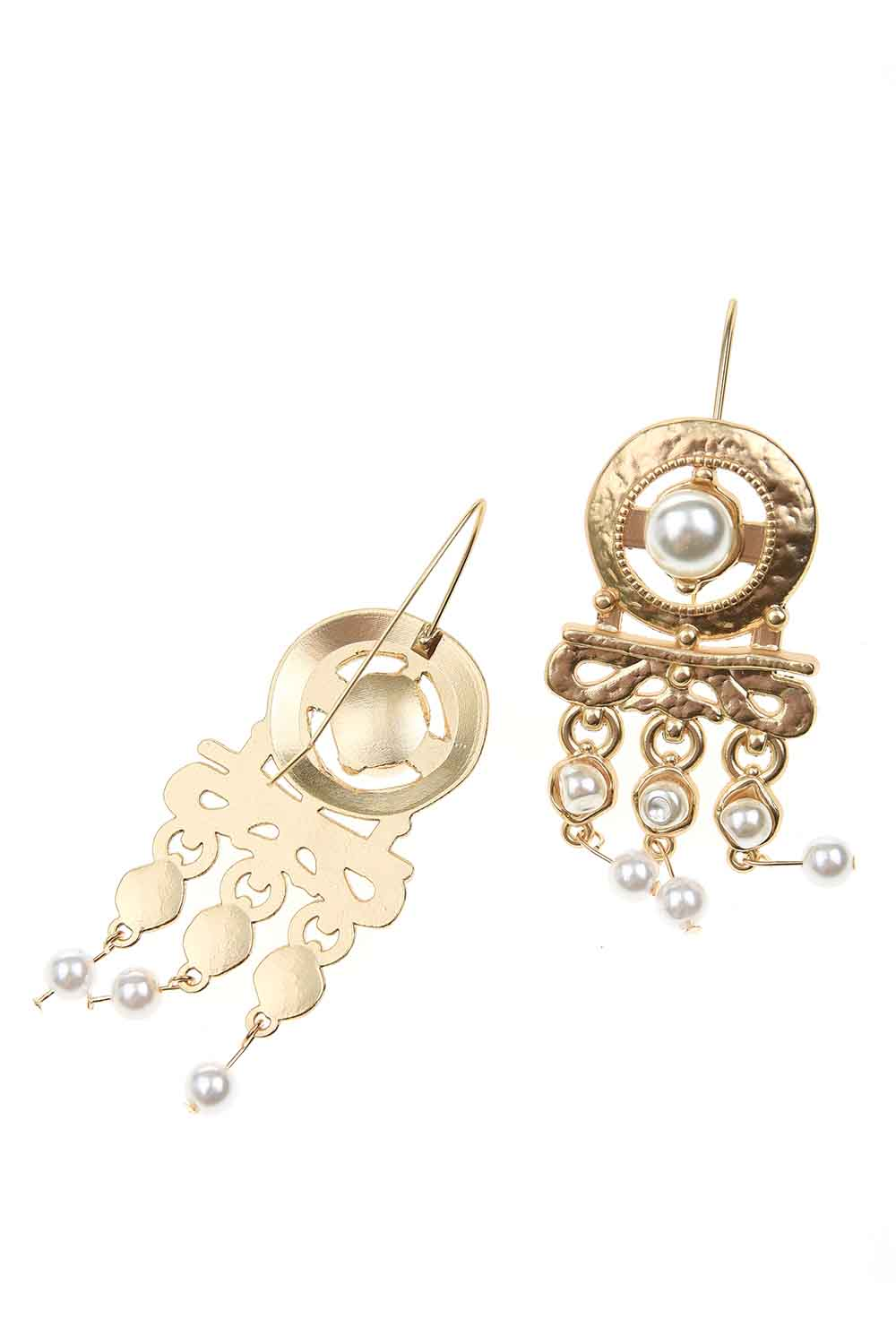 MIZALLE Pearl Looking Dangling Earrings (St) (1)