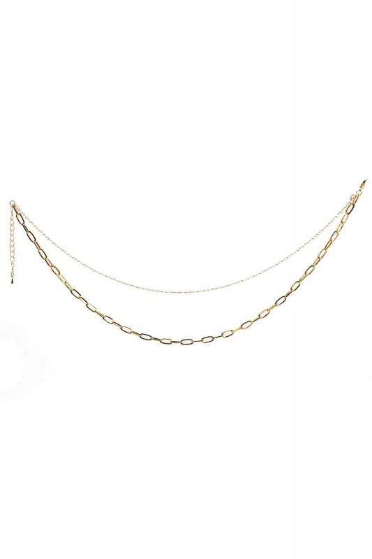 Pearl Detailed Thick Chain Necklace