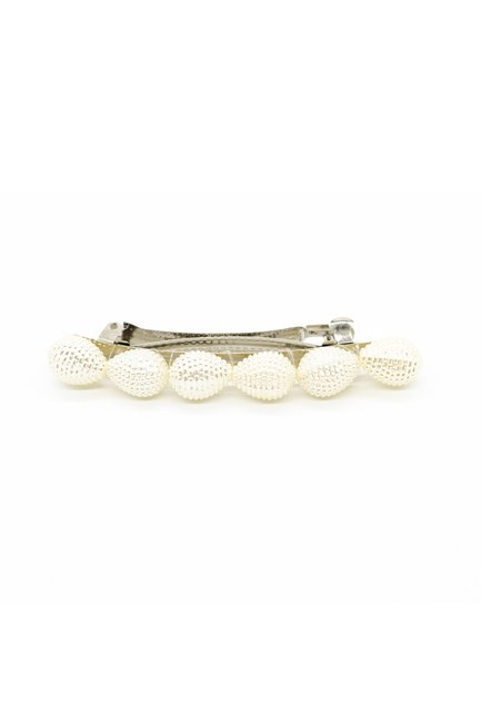 MIZALLE - Pearl Clip Hairpin (Ecru) (1)