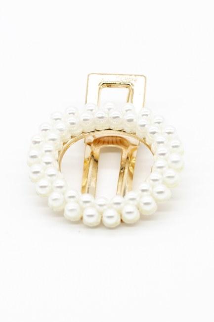 MIZALLE - Pearl Clip Hair Clasp (White) (1)