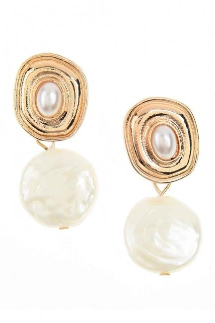Pearl Dangling Earrings (St) - Thumbnail