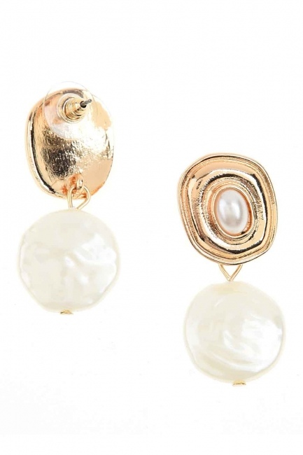 MIZALLE - Pearl Dangling Earrings (St) (1)