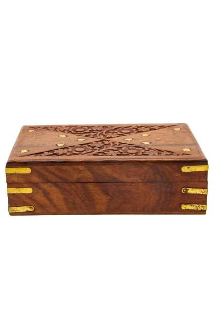 Indian Engraved Jewelry Box (St) - Thumbnail