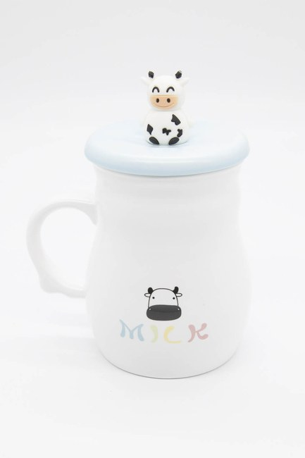 MIZALLE HOME - Cow Figured Porcelain Mug (Blue) (1)