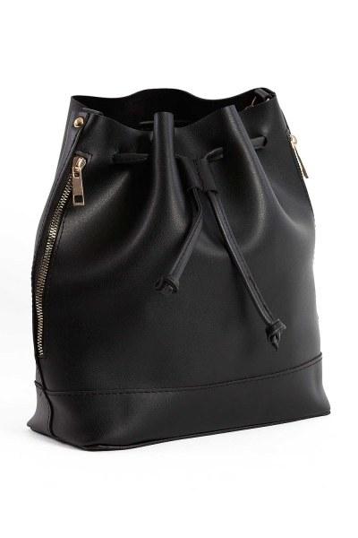 MIZALLE الرباط ، اليد والكتف حقيبة (أسود)