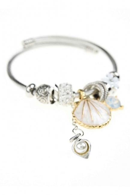 MIZALLE - Oyster Bracelet (White) (1)
