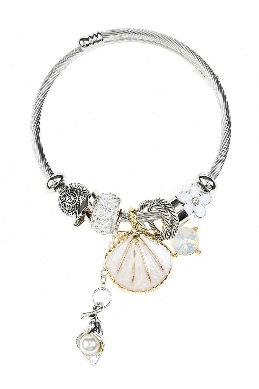 MIZALLE Oyster Bracelet (White) (1)