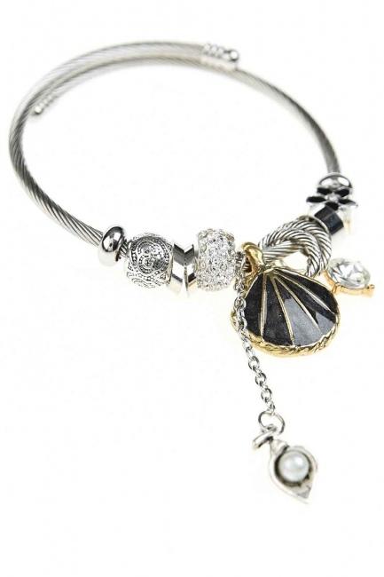 MIZALLE - Oyster Bracelet (Black) (1)