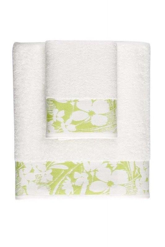 منشفة حمام جاكار (100X150) (أخضر)