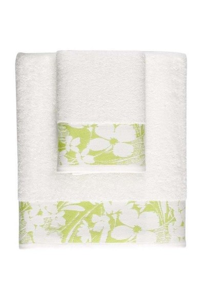 MIZALLE HOME Jacquard Bath Towel (100X150) (Green)