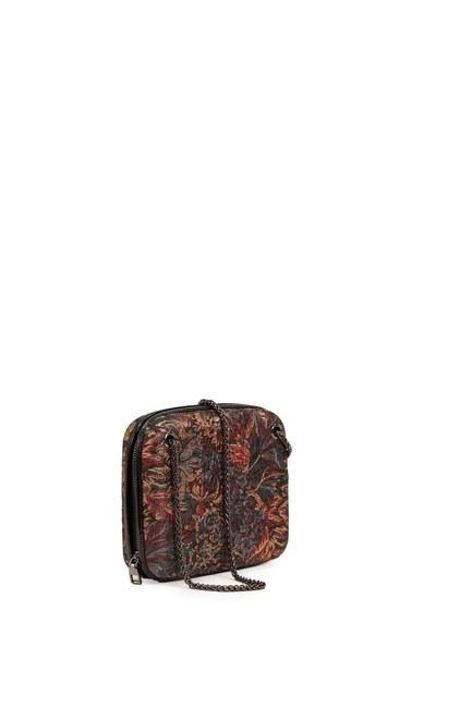 Mizalle - Jacquard Patterned Bag (Black) (1)