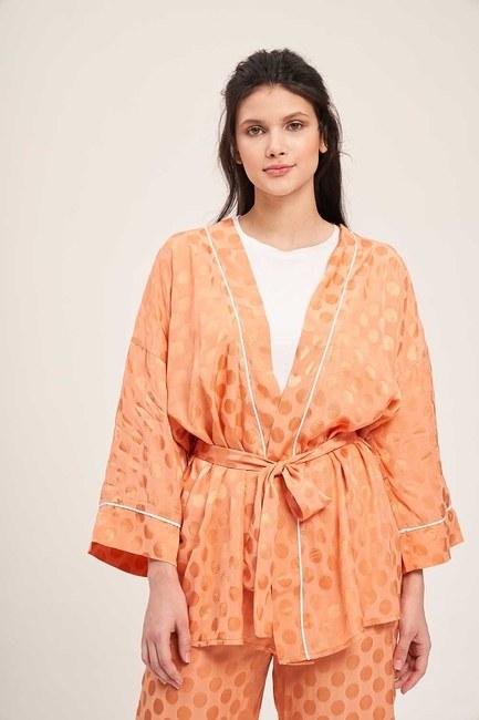 Jakar Desenli Kimono Takımı (Yavruağzı) - Thumbnail