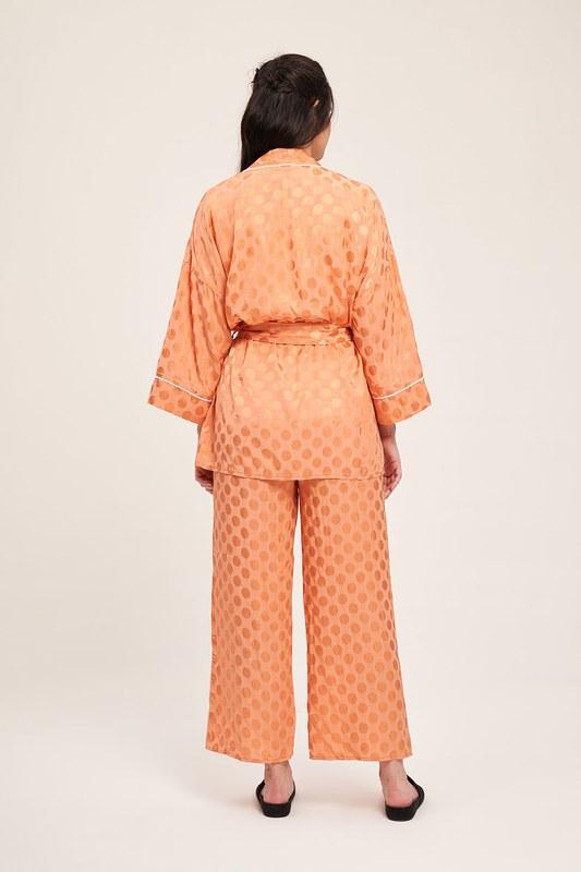 Jakar Desenli Kimono Takımı (Yavruağzı)