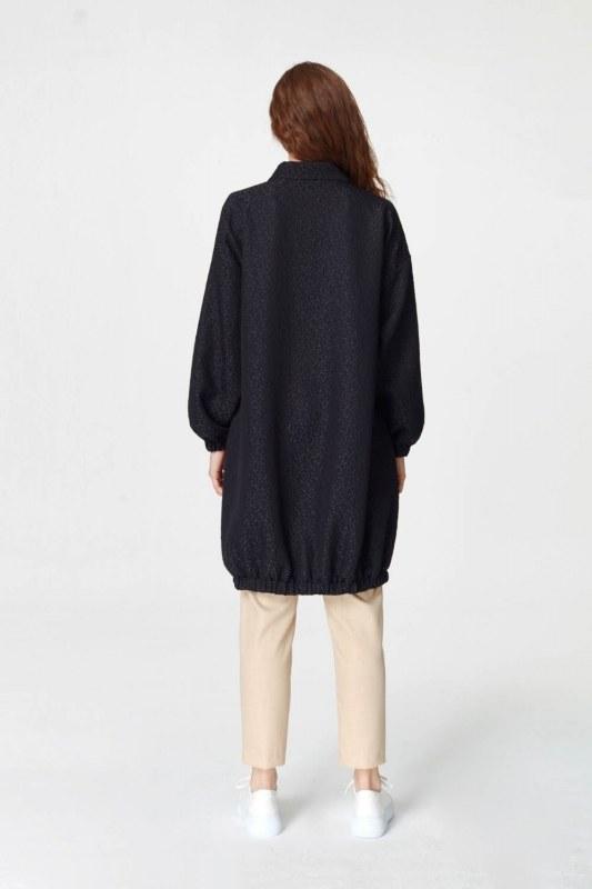 Jakar Desenli Kuşaklı Tunik Elbise (Siyah)