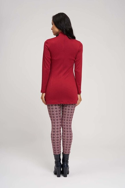 Jacquard Patterned Leggings (Flower) - Thumbnail